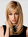 fashionabla söt sida Hjälp Gloden medellång lockigt syntetiskt hår peruk