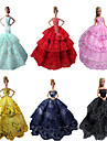 Fête / Soirée Robes Pour Poupée Barbie Rouge / Noir / Rose / Jaune / Bleu Encre / Cyan Robes Pour Fille de Doll Toy