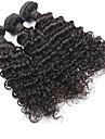 """3 pièces Lot 8 """"-30"""" malaisien couleur de cheveux vierge # 1B vague brésilienne naturelle faisceaux bouclés de cheveux humains"""