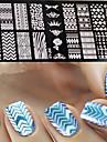Nail Art Stamping Plate Stamper Scraper 12*6