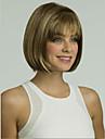 Capless högsta kvalitet syntetiskt blandad färg kort rak bob fullt peruk