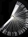 50pcs bouts faux d'art d'ongle d'affichage Fan Transparent