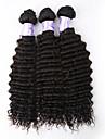 3st / lot obearbetade brasilianska jungfru hår vinkar djupt mänskliga hårförlängningar naturligt svart hår väver