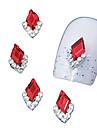 10pcs marquise rouge 3d strass bricolage accessoires en alliage nail art décoration