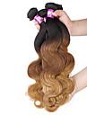 """4 st / lot 16 """"-24"""" 7a 3t brasilianska jungfru hår förkroppsligar vinkar människohår väft 100% obearbetat brasilianskt remy hår väver"""