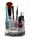 Rangement pour Maquillage Boîte de maquillage Rangement pour Maquillage Plastique Acrylique Couleur Pleine Rond 9.2x9.2x5.9 Transparents