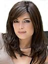 Capless vidskepelse färg lång längd högkvalitativa naturliga rakt hår syntetisk peruk med sidan Hjälp