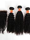 Hår Inslag med Stängning Brasilianskt hår Sexigt Lockigt hår väver