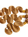 """3st 14-28 """"cinderella hårförlängningar honung blond peruanska vågigt jungfruligt remy människohår väv buntar 7a färg 27"""