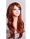 billiga cosplay peruker fulla syntetiska peruker 70 cm skönhet brun peruk