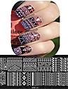 1pcs 12 * 6cm ongles art plaque d'estampage belle fleur d'image colorée outils de conception à ongles les cool01-10