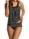 Femei Tankini Femei Cu Susținere Talie Înaltă / Buline / Sport Polyester