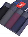SHINO® Bumbac / Fibră de Carbon de Bambus Chiloți Boxeri Bărbătești 4 / cutie-F005-A