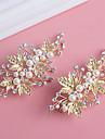 Femei Perle Cristal Aliaj Diadema-Nuntă Ocazie specială Clipuri de Păr 1 Bucată