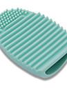 silicone pratiques pinceaux de maquillage brosse de nettoyage de l'outil oeuf