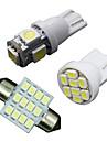 11pcs LED blanche lumières de paquet intérieur pour t10&31mm dôme carte + la plaque d'immatriculation