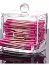 2016 acrilic tampon de bumbac caseta organizator de caz titularul cosmetic q-tip de depozitare machiaj mosoare organizator consumabile de