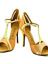 latin anpassnings kvinnors sandaler satin dansskor (fler färger)