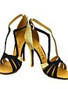 Chaussures de danse(Noir Bleu Jaune Rose Violet Rouge Blanc Fuchsia) -Personnalisables-Talon Personnalisé-Satin-Latine Salsa Salon