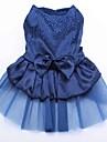 Chat Chien Robe Rouge Bleu Or Vêtements pour Chien Eté Printemps/Automne Paillettes Anniversaire Vacances Mariage