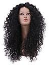 vente chaude noire longue perruque bouclée pour les femmes africaines américaines perruque synthétique bouclés afro crépus