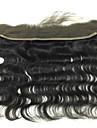 """8"""" 10"""" 12"""" 14"""" 16"""" 18"""" 20"""" 22"""" 24"""" Noir Dentelle frontale Ondulation naturelle Cheveux Rémy Fermeture Marron clair Dentelle Suisse 40-120g"""
