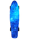 utrymme tryckt plast skateboard 22 tums mini cruiser med ABEC-9 kullager