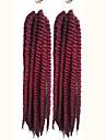punaise La Havane Tresses Twist Extensions de cheveux 24inch Kanekalon 2 Brin 75-80g/pcs gramme Braids Hair