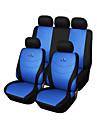 9 pcs siège fixé de voiture couvre gris bleu rouge universel ajustement course matériel de conception de broderie de siège polyester