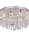 sl® modern / kristall / krom flush mount vardagsrum / sovrum / matsal