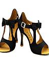 Chaussures de danse (Jaune/Rouge) - Personnalisable - Talons personnalisés - Flocage - Danse latine/Salsa