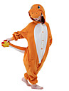 Kigurumi Pijamale noul Cosplay® balaur Leotard/Onesie Festival/Sărbătoare Sleepwear Pentru Animale Halloween Portocaliu PeteciMink