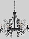 Max 60W Traditionell/Klassisk stearinljus stil Rektangulär Ljuskronor Living Room / Bedroom / Dining Room