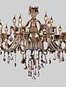 Max 40W Ljuskronor ,  Modern / Rustik Krom Särdrag for Kristall Glas Living Room / Bedroom / Dining Room / Sovrum / Studierum/Kontor