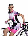 SANTIC® Maillot et Cuissard de Cyclisme Femme Manches courtes Vélo Respirable / Séchage rapideCuissard / Short / Maillot / Maillot +