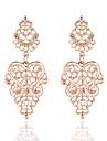 La modă Vintage Placat Auriu Aliaj Flower Shape Auriu Argintiu Bijuterii Pentru Nuntă Petrecere Casual 1 pereche