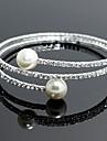Brățări Pentru femei Componentă / Tenis / Brățări rotunde Argintiu / Imitație de Perle Imitație de Perle