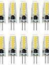 10pcs g4 12d smd5733 2w 200-300lm cald alb / alb decorativ LED bi-pin lumini dc12v