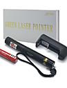 faisceau vert de puissance élevée jd303 pointeurs laser réglable plume (5mW, 532nm, 1x18650 batterie + chargeur) noir