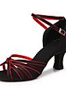 Chaussures de danse (Multicolore) - Non personnalisable - Gros talon - Satin - Danse latine/Salle de bal