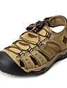 Bărbați Sandale Piele Vară Casual Toc Plat Maro Verde Cafeniu Plat