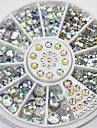 blandade storlekar vita kristaller nagel konst strass akryl ab smycken skinande manikyr utformning