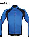 SANTIC® Maillot de Cyclisme Homme Manches longues VéloRespirable Séchage rapide Résistant aux ultraviolets Perméabilité à l'humidité