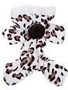 Pisici Câine Hanorace cu Glugă Salopete Pijamale Îmbrăcăminte Câini Draguț Casul/Zilnic Leopard Maro Roz