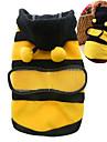 Chat Chien Costume Pulls à capuche Vêtements pour Chien Eté Printemps/Automne Animal Mignon Cosplay Jaune