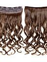 24inch 60cm 120g klipp i on hårförlängningar vågigt klipp på löshår