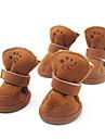Chien Chaussures & Bottes Mode Garder au chaud Hiver Printemps/Automne Couleur Pleine Marron Incanardin Coton