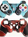 étui de protection à double couleur de la couverture de peau de silicone pour PS3 Livraison gratuite contrôleur