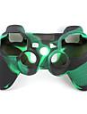 de protection à double couleur étui en silicone de style pour ps3 contrôleur (vert armée et noir)
