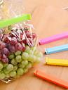 5 pcs / lot grande nourriture sac à goûter le stockage d'étanchéité des sacs en plastique refermables clips pince (couleur aléatoire)